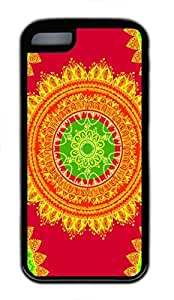 MEIMEISeamless Indian Pattern Custom Personalized Design DIY Back Case for iphone 4/4s TPU Black -1210124MEIMEI