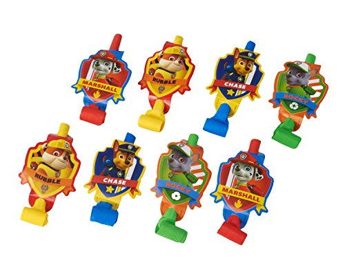 American Greetings Paw Patrol Party Favors, Multicolor Party Blowers, 8-Count ()