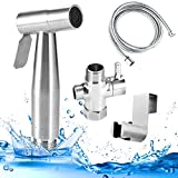 YEGU Bidet Handheld Sprayer Handheld Stoilet Sprayer For Cloth Diapers Bathroom Muslim Shower,Inclding Controllable Nozzle 47 Inches Extra Long Hose Brass T-Adapter And Bracket Holder
