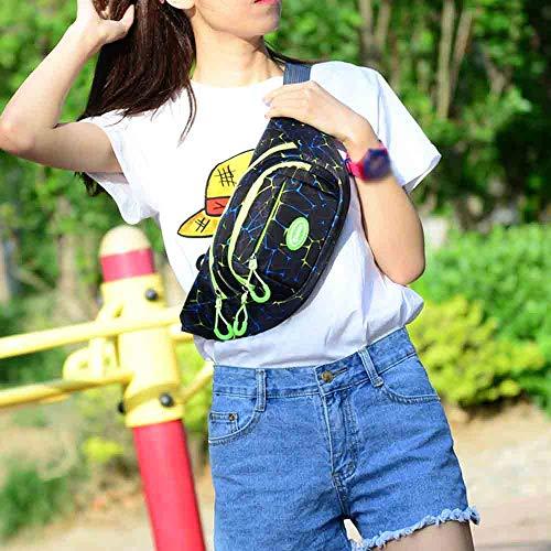 Moda Cintura Paquete Unisex Bolso Mujer Gimnasio Pequeños E Hombro Decorativos Fitness Rawdah Bolsa bolso Bandolera Patrón De Pecho xfvZ0wqY