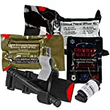 Police Department IPOK''Individual Patrol Officer Kit'' Bleed Control Package w/CAT Tourniquet and S-Rolled Gauze (6 Pack) (Combat Gauze)