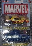 bradley die cast - Maisto Ultimate Marvel Double Pack Cyclops Hemi 'Cuda and Wolverine M2 Bradley Tank 1:64 Scale Diecast Car