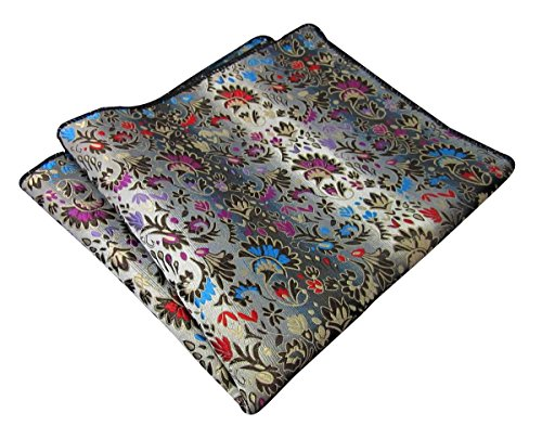 Shlax&Wing Floral Multicolor Pocket Square Mens Hankies - New Square Mens Pocket