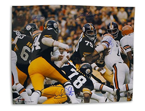 Autographed Steel Curtain Pittsburgh Steelers 16x20 Photo