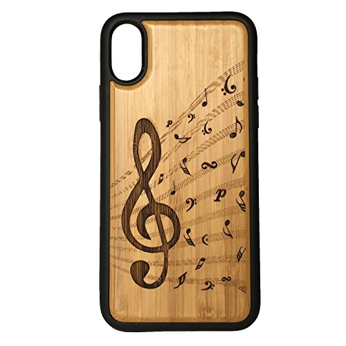 - Treble Clef Phone Case Cover for iPhone XR by iMakeTheCase   Eco-Friendly Bamboo Wood Cover + TPU Wrapped Edges   Music Notes Musician Band Orchestra Songwriter Jazz Choir.