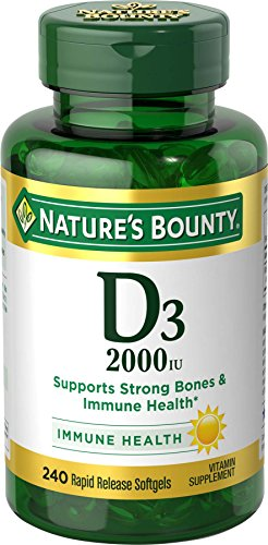 Nature's Bounty Vitamin D3 2000 IU, 240 (Natures Bounty Natural Vitamin)