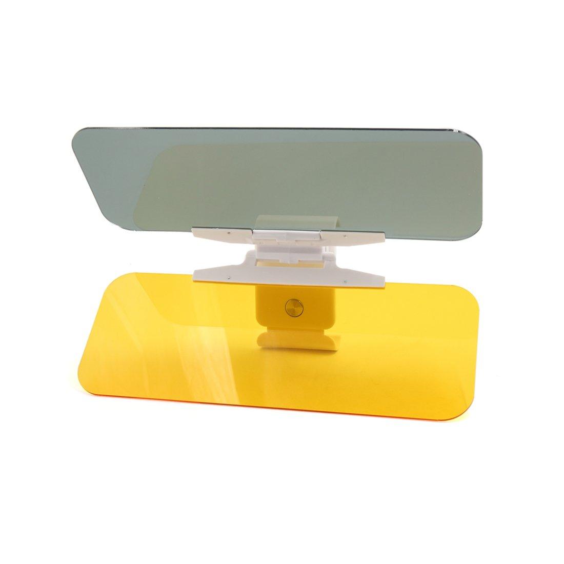 sourcingmap Auto Auto anti-riflesso dell'aletta parasole HD capovolgere giù 2 1 Day Night Vision Shield sourcing map a16122100ux0018
