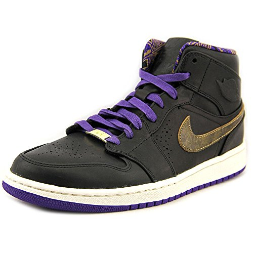 AIR JORDAN 1 ONE MID NOUVEAU BHM BLACK PURPLE GOLD 629151-009 NEW SIZE 11 - 2 Rate Day Fedex Flat Shipping