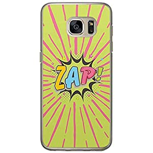 Loud Universe Samsung Galaxy S7 Comic Zap! Printed Transparent Edge Case - Multi Color