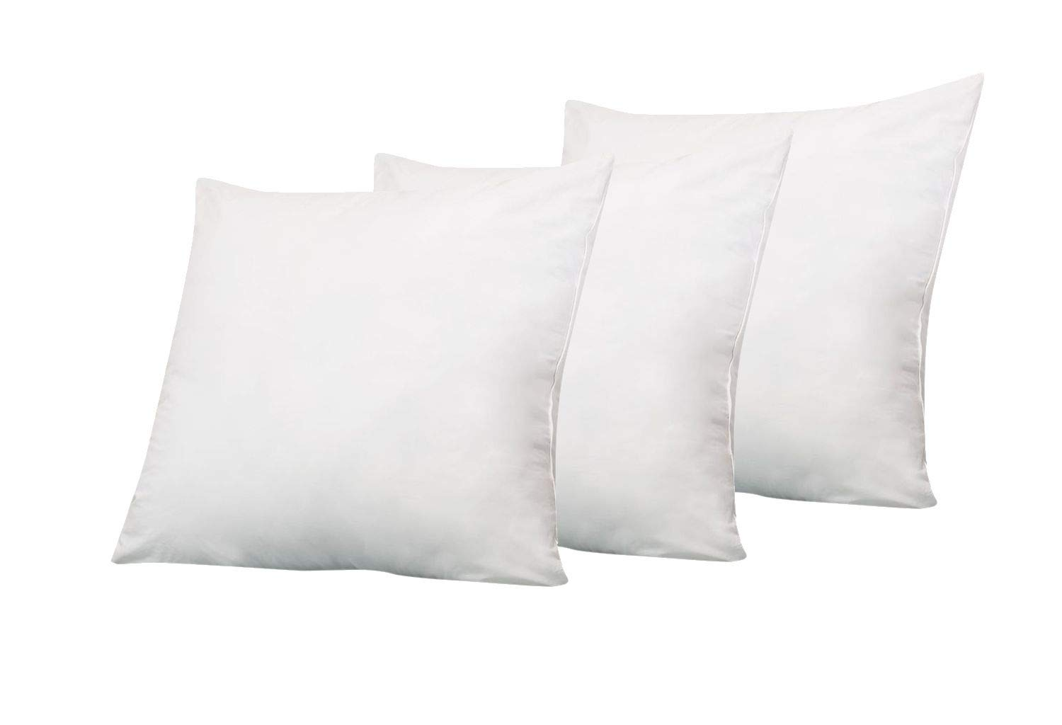 Designer Bedding Store ! Premium Hotel Collection Pillows ! 6D Pillow (28 x 28) Set of 3 Pillow Inserts for Decorative Bed Pillow Inserts Shams - Down Alternative Fill by Designer Bedding Store