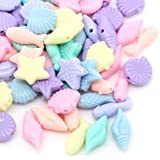 Rockin Beads Mixed Acrylic Fish Shell Mixed About 18mm to 11mm 250 Pack (1.4mm Hole)