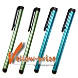 Yellow-price 4x pieces Stylus Touch Screen Pen For iPhone 4S 4G 3GS 3G iPod Touch 4 iPad 1 2 3 - Blue/Green