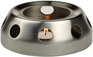 Generic Brushed Stainless Steel Teapot Warmer Base
