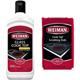 Weiman Ceramic Stove Top Cleaner Kit - Glass Cooktop Heavy Duty Cleaner and Polish - 10 Ounce Bottle and Scrubbing Pads