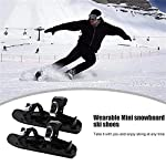 Zhyaj-Mini-Stivali-da-Sci-Skateskates-per-Le-ciaspole-in-Nylon-Portatile-Nero-Fibbia-in-Metallo-Stivali-da-Sci-Protezione-da-Sci-per-Sport-Invernali-allaperto-Taglia-Unica-Taglia