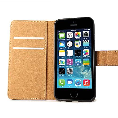 BELK iPhone 6 Plus 5,5 Zoll Case - High Quality reale echtes Schwarz Schutzmaßnahmen Lederschlagfälle - Schwarz