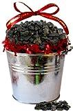 Large Coal Filled Tin Bucket