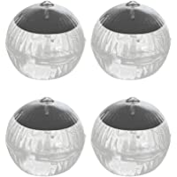 Mobestech 4pcs Solar Waterproof Floating Light Underwater Pool Lamp Outdoor Garden Decoration (Colorful Light)