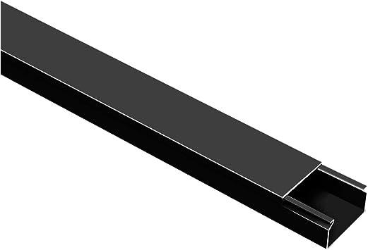 Canales para cables Negro 20 m, autoadhesivos, con cinta adhesiva de espuma color negro