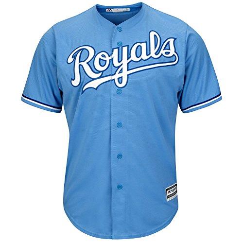 Kansas City Royals Blank Light Blue Youth Cool Base Alternate Replica Jersey (Large 14/16)