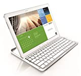 ZAGG ZAGGkeys Pro Cover Fit Case with Bluetooth Keyboard for Samsung (12.2 Inch) Galaxy Note Pro or Tab Pro - White