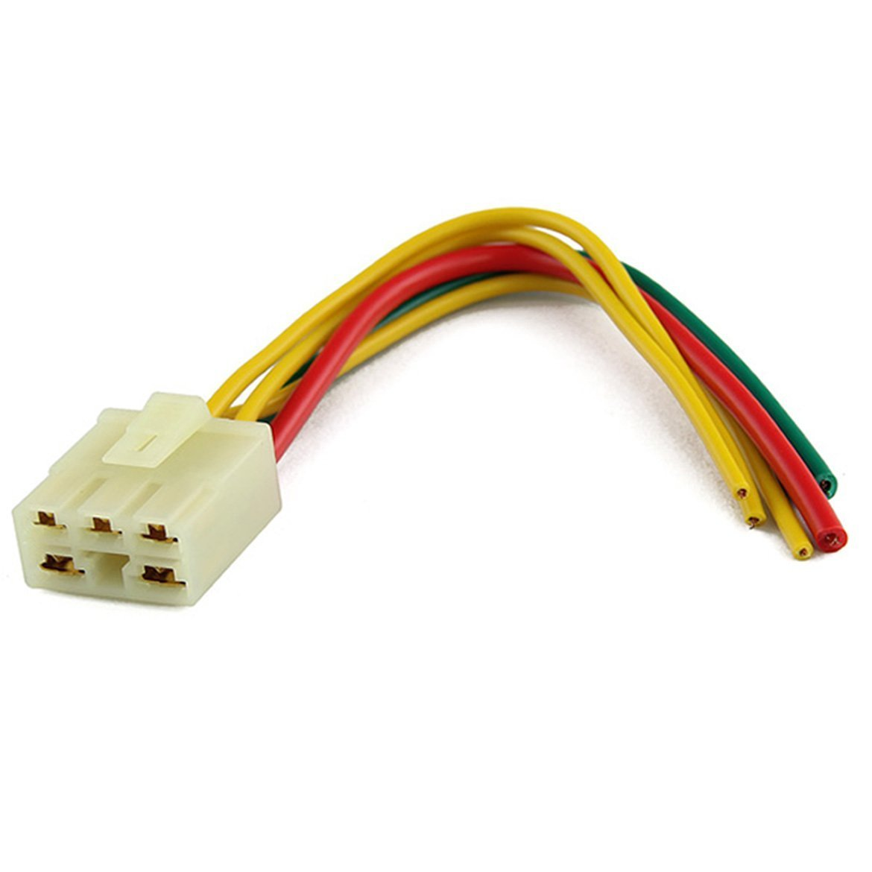 ASUMAN 5 Way Regulator Rectifier Male Plug Connector Fit For Honda