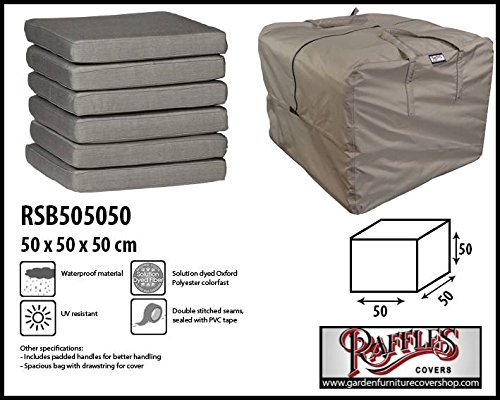 RSB505050 Lounge cushions storage bag 50 x 50 x 50 Storage bag for garden cushion, protection cover for outdoor pillows Raffles Covers