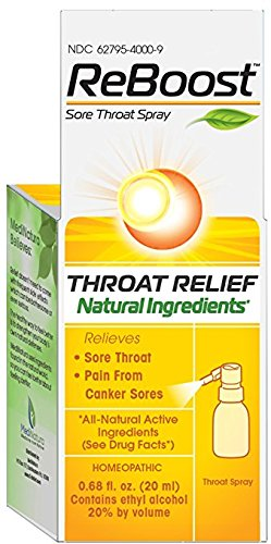 ReBoost Throat Relief Spray, 0.68 Ounce (Homeopathic Sore Throat Spray)