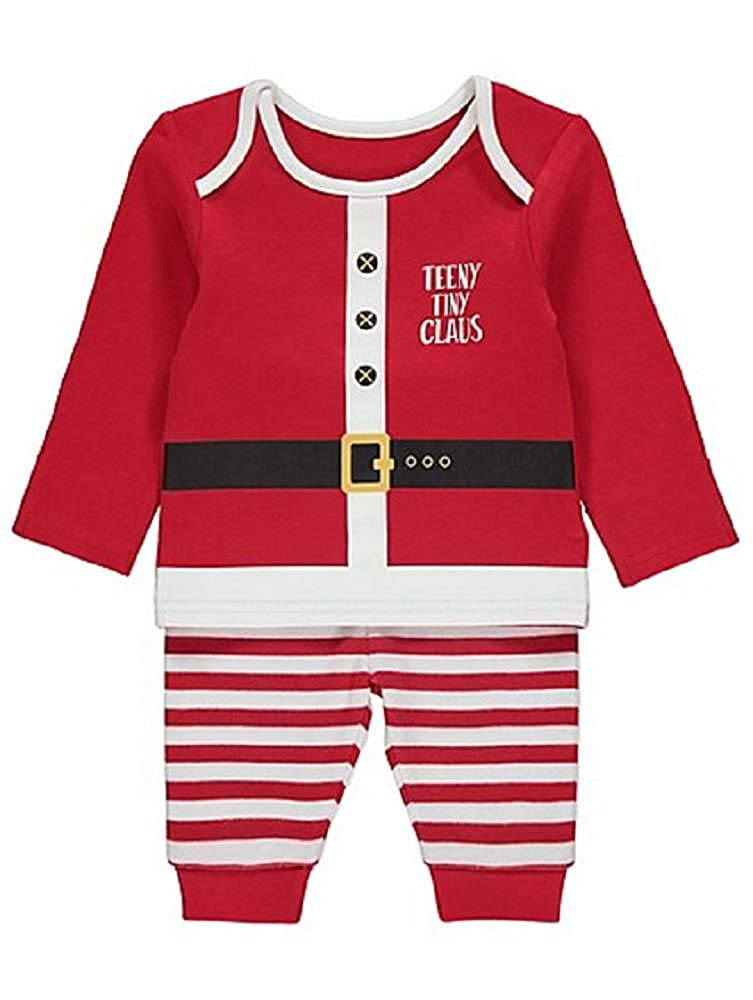Teeny Tiny Claus George Baby Santa Christmas Xmas Babies 2 Piece Outfit Set