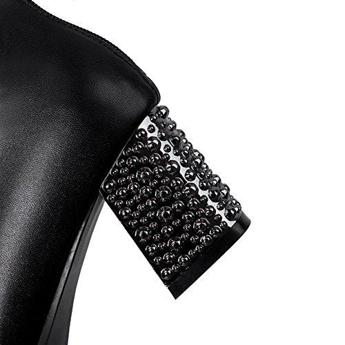 Adee pour femme Couleurs assorties givré Pompes Chaussures - Noir - noir, 43