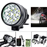 WALLER PAA 20000LM 9 x CREE XM-L T6 LED 8 x 18650 Bicycle Cycling Light Waterproof Lamp NEW