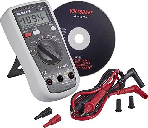 Voltcraft Digital Hand-held Multimeter, Model: VC165, True RMS Measurement, 2000 Counts, AC/DC, CAT III 600V, Voltage Range up to 600V, Rubber Housing, 9V Battery Included by Voltcraft (Image #2)