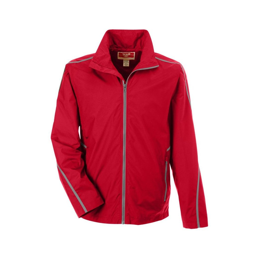 Ash City Apparel Team 365 Conquest Unisex Jacket with Mesh Lining (X-Small, Sport Red)