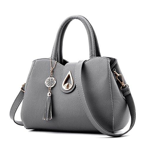 Cuir Couleur Shoulder Fourre Femmes Noir Sac Fourre A tout tout Handbag Femmes Sport PU 4 Crossbody z6fw1FWE