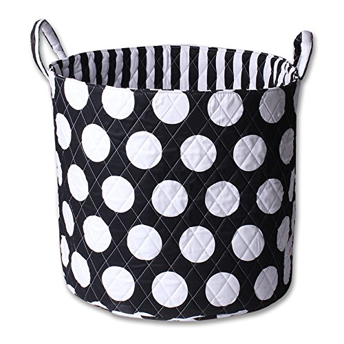 Minene Storage Basket (Large, Black with Large White Spots) 21173