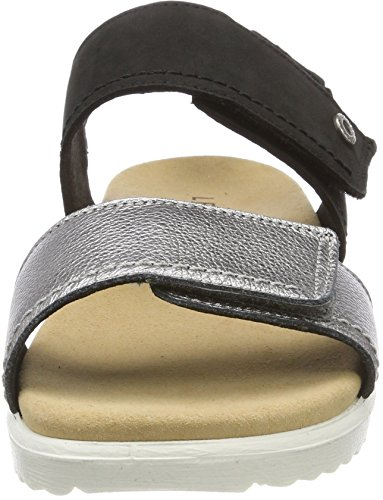Legero Dames Savona Open Sandalen Zwart (alluminio)