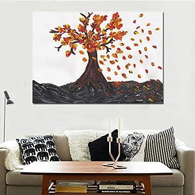XINGMUZSH Pintura Decorativa Pintura Artística De Inyección De Tinta De Alta Definición Árbol Muerto Abstracto Pintura Sin Marco Adecuada para El Dormitorio ...