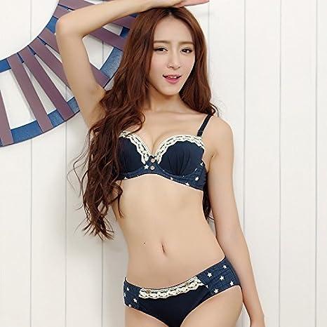 Cute japonés encaje verano estilo algodón jóvenes niñas pequeñas sujetador para adolescentes mujeres conjuntos de ropa interior lencería Brassiere coreano ...