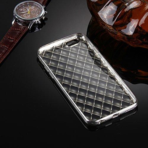 Phone Taschen & Schalen Für iPhone 6 Plus & 6s Plus Argyles Texture Galvanisieren Soft TPU Schutzhülle Fall ( Color : Silver )