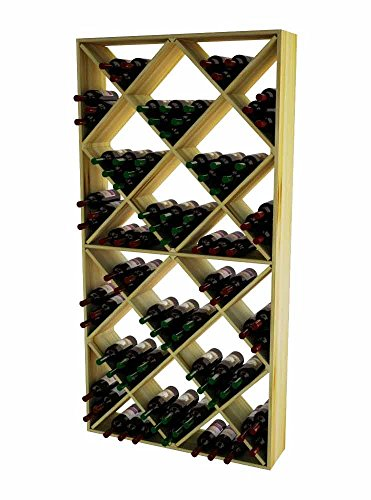 (Wine Cellar Innovations RP-UN-SDIAM-A3 Traditional Series Solid Diamond Bin Wine Rack, Rustic Pine, Unstained)