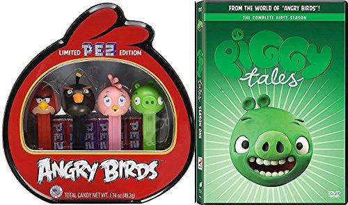 Angry Birds Seasons Halloween 3 5 (Angry Birds Piggy Tales Toons Season One Animated DVD Set Cartoons + Bonus Pez Collectible Tin candy Dispenser 4 character birds &)