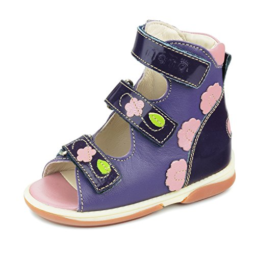 Memo Vicky 3NA Diagnostic Sole Ankle Support Girl's Orthopedic Leather Sandal, 26 (9T) by Memo