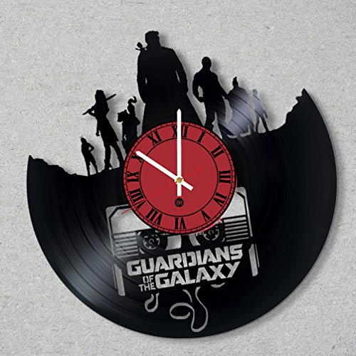 [Vinyl Record Wall Clock Comics Movie Guardians Galaxy decor unique gift ideas for friends him her boys girls World Art Designr him her boys girls] (Thanos Movie Costume)