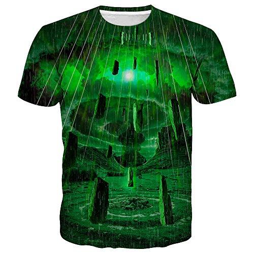 - Syaimn Unisex 3D Printed Short Sleeve T-Shirts Casual Graphics Tees XXL