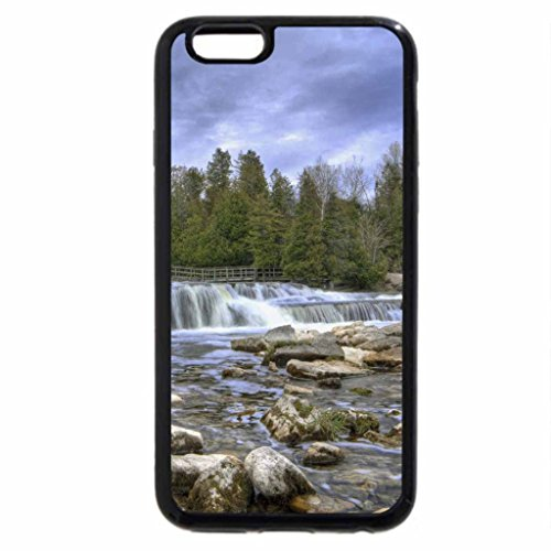 iPhone 6S / iPhone 6 Case (Black) beautiful wide waterfall in a rocky river