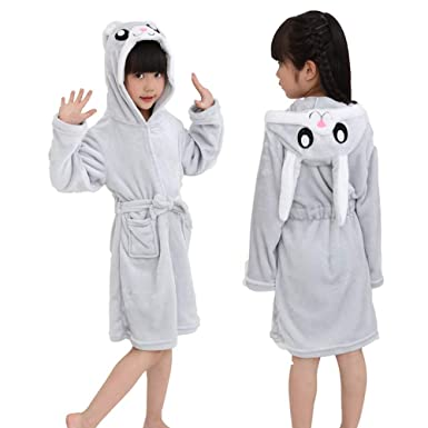 7a19981043 Kids Unicorn Bathrobe Sleepwear Pajamas Soft Flannel Fleece Unisex Hooded  Push Robe for Toddlers All Season
