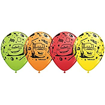 "Cars Disney Pixar 12"" Latex Party Balloons, Package of 20, Very."