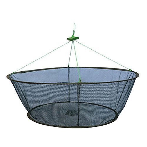 New Double Ring Folding Crab Lobster Hoop Net Fishing Bait Trap Diameter ()