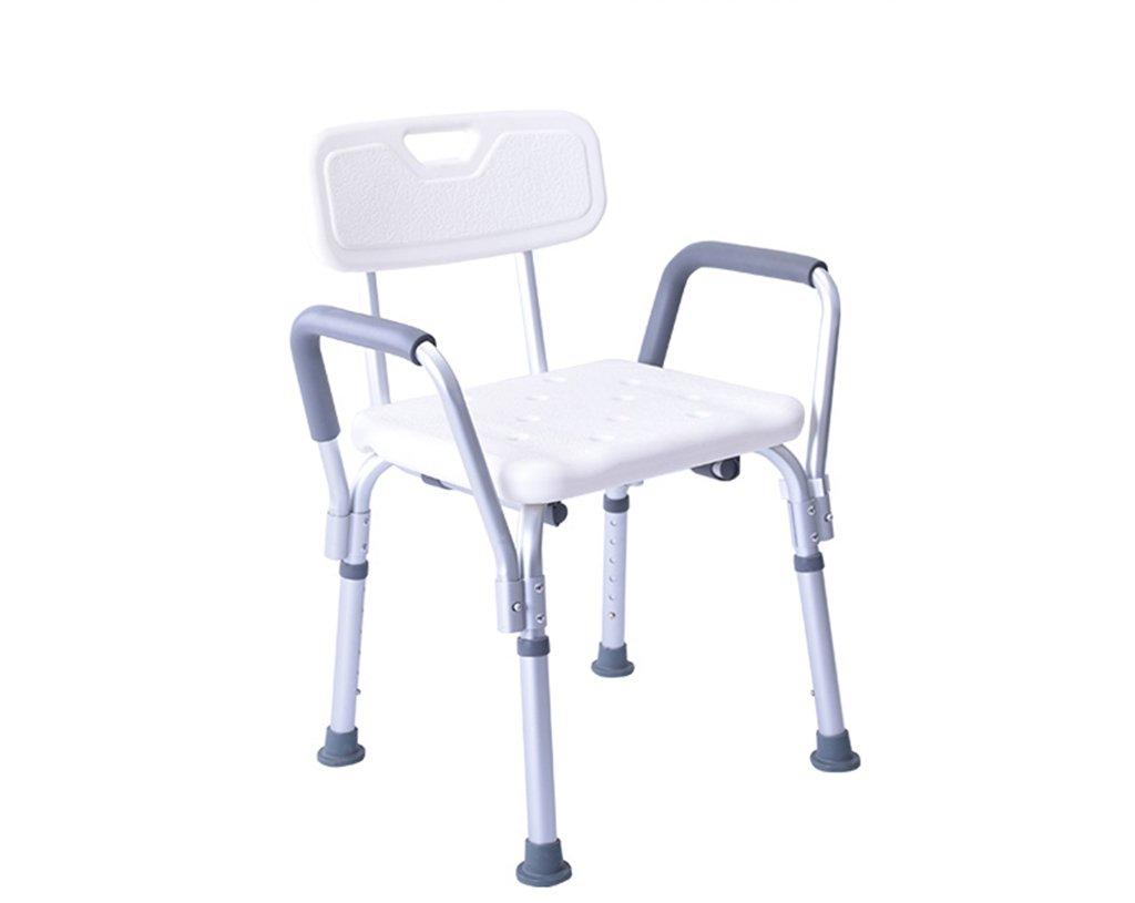 GRJH® Chaise de bain Les personnes âgées Chaise de bain Tabouret cool Chaise de bain En alliage d'aluminium antid