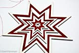 Star mobile / window picture, wood and red filt